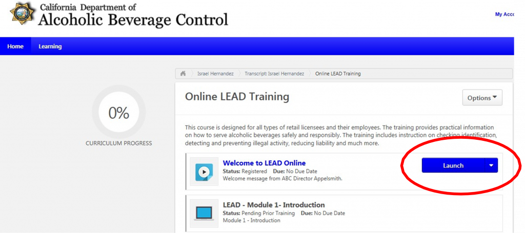 Online LEAD Training Launch