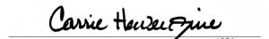 CARRIE HEWERDINE's signature